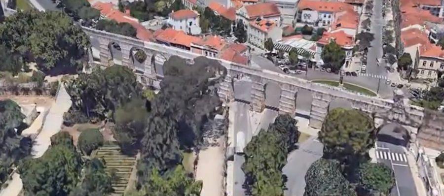 Acueducto de San Sebastian en Coimbra