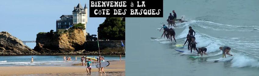Perspective de la Côte des Basques o la costa de los vascos