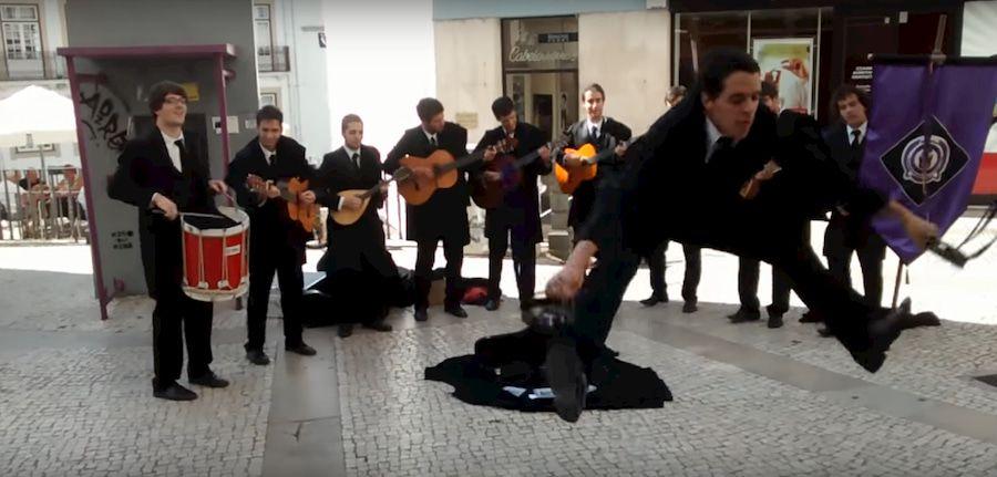 Tuna Portuguesa en la Rua Ferreira Borges de Coimbra