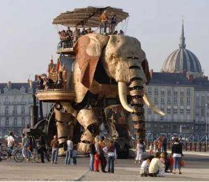 les machines de L'ìle nantes elefante animales mecanicos