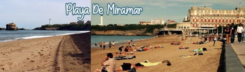playa de miramar biarritz plage