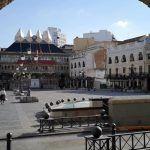 Plaza Mayor de Ciudad Real desde la casa del Arco