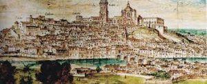 dibujo antiguo de la ciudad de Lleida