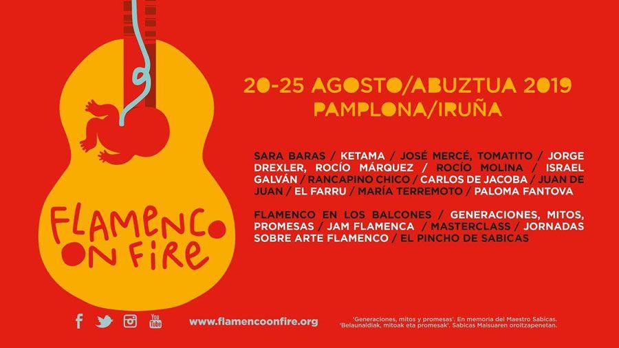 Cartel del festival Flamenco on Fire