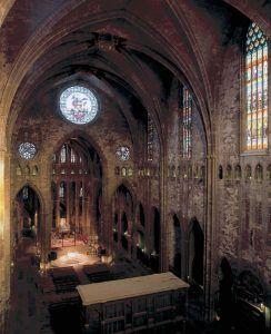 Nave central de la catedral de Girona