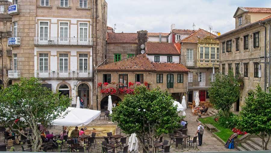 Plaza A Ferraria, en Pontevedra