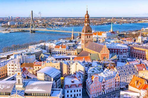 La catedral de Riga en Letonia