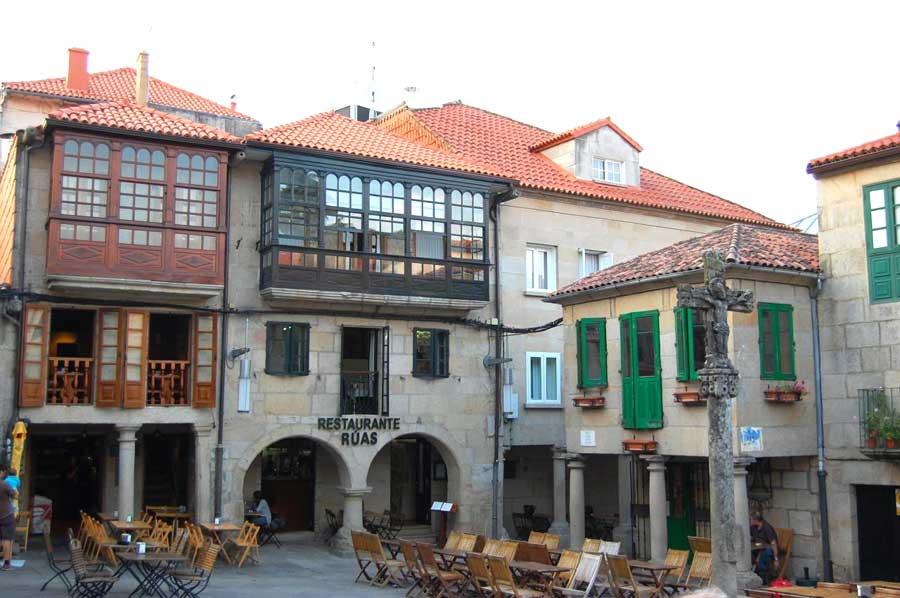 Terrazas en las plazas de Pontevedra