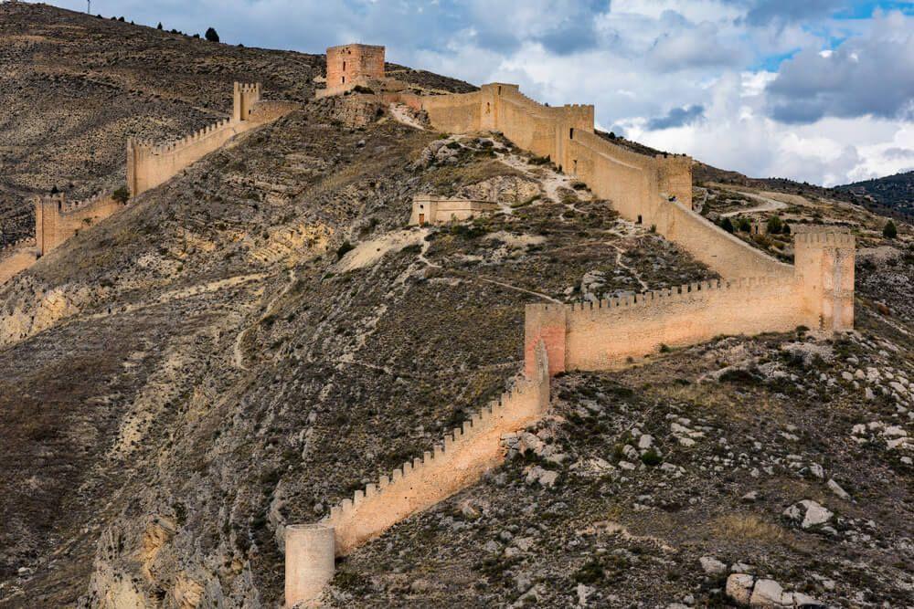 Castillo de Albarracin en Teruel